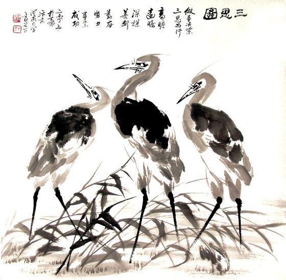 泼墨大写意花鸟画-著名客籍画家陈良才 笔墨当随时代